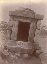 Close view of a small ruined temple, Dhaknesar, Jhansi District.